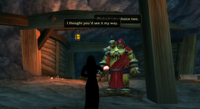 I know Blizzard makes great cutscenes, but that skill doesn`t translate well to this in-game, in-engine stuff. This is awkward, obvious, slow, uninteresting, and the dialog is atrocious.