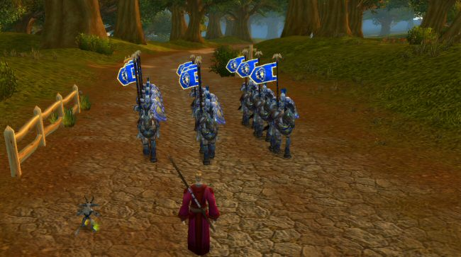In Cataclysm, Blizzard has tried to fill the world out a bit more.  There are more NPCs in the world, and many of them are now moving around and doing things, as opposed to standing around and waiting to be clicked on.  It really does make the world seem more active.
