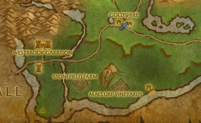 We`re still pretty close to the newbie area, and Goldshire.