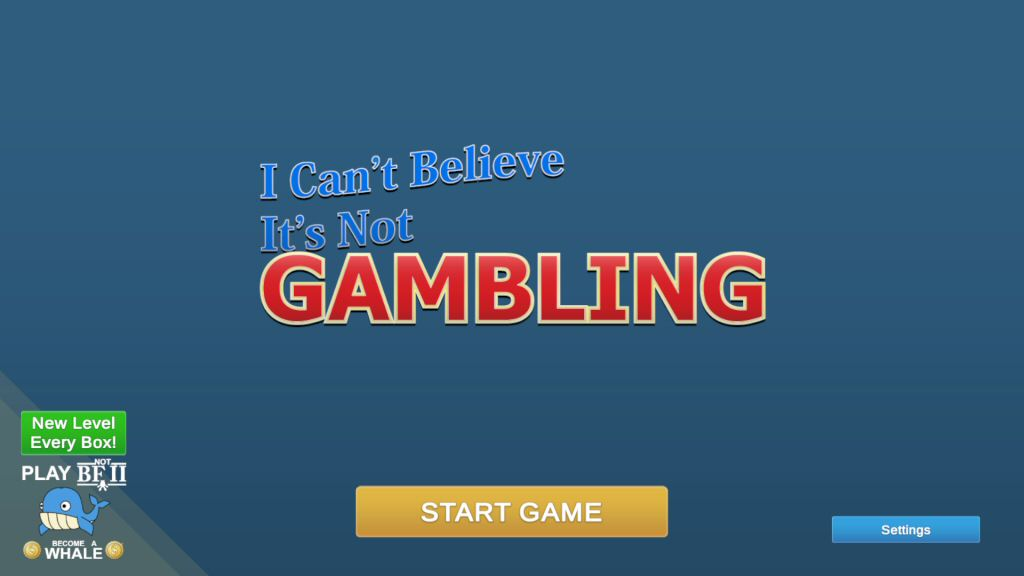 I can't Believe It's Not Gambling GOTY Edition