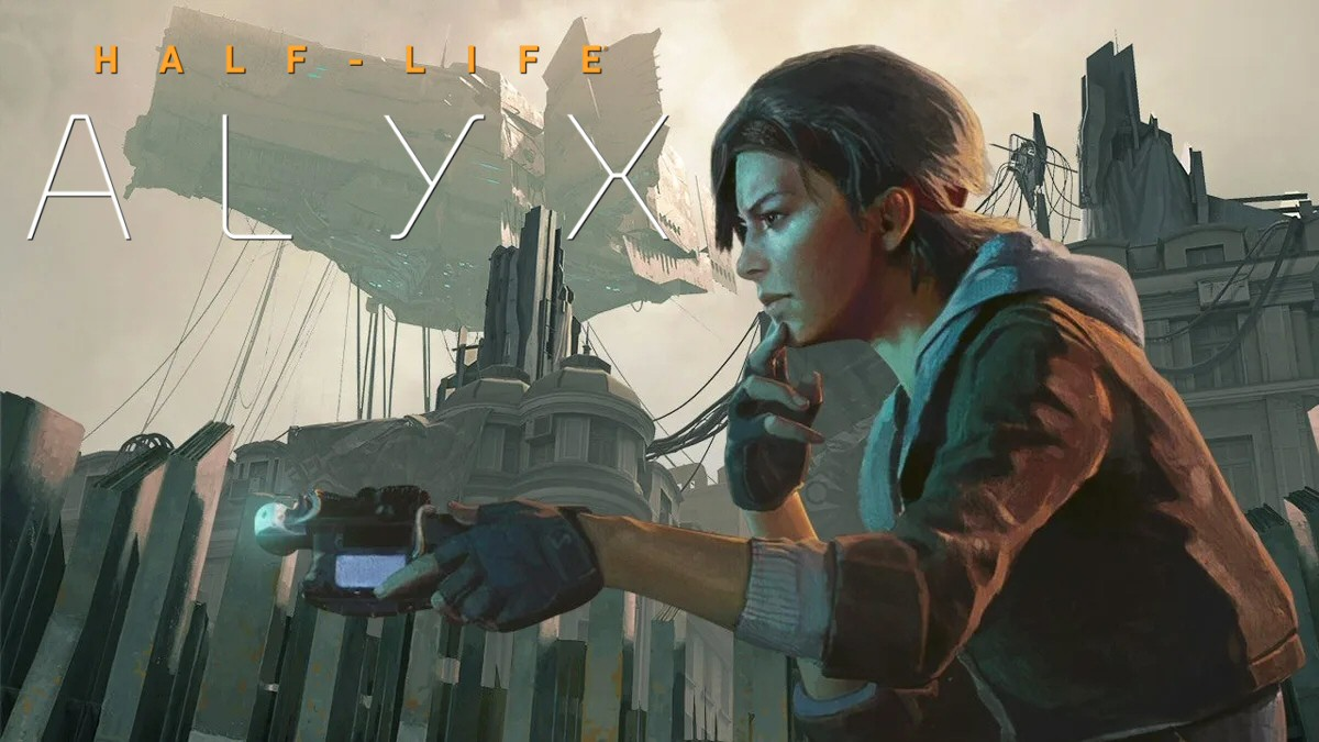 Wait, why isn't Alyx wearing a VR headset in this image?
