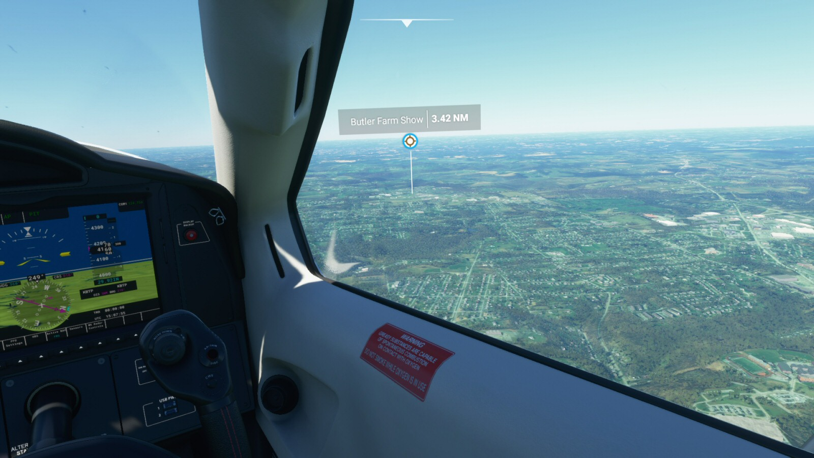I like how it looks as if I'm playing the 1982 version of Flight Simulator on my dashboard.