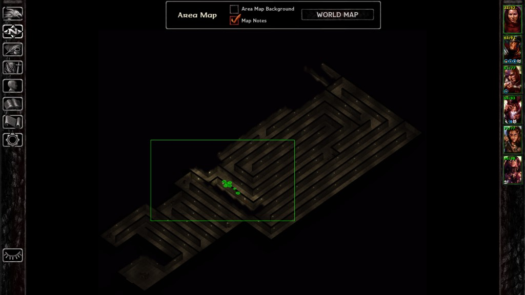The thieves' guild maze. If you've ever wanted narrow, winding passages, endless enemies and traps, a repetitive tileset, and terrible pathfinding AI all in the same package, the thieves' guild maze is for you.