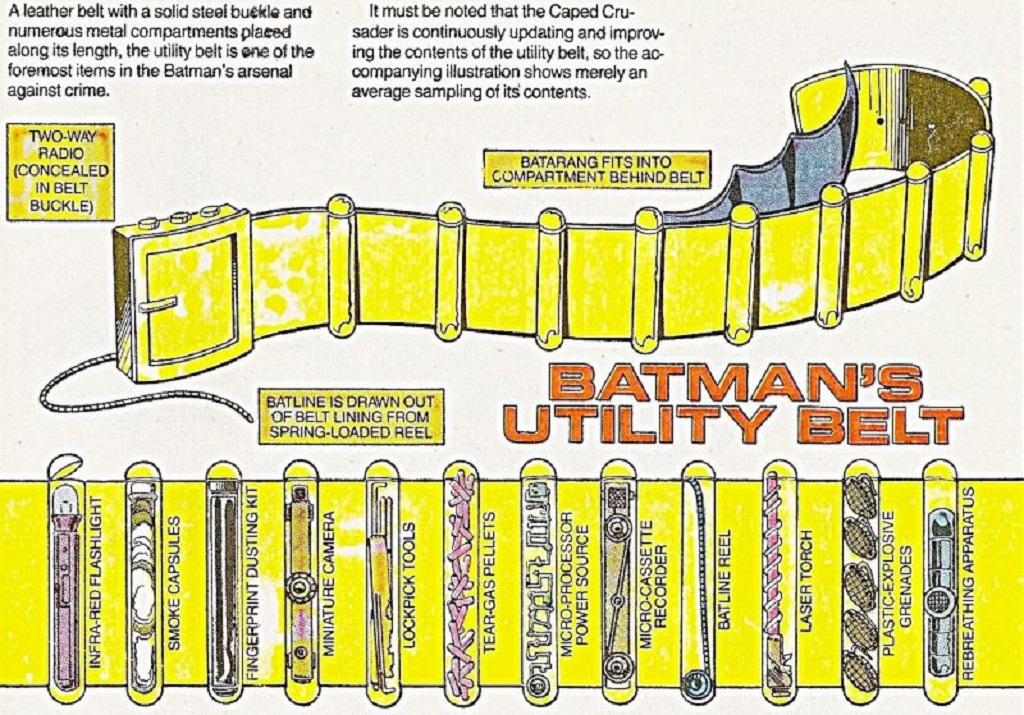 This is from an official comic, but if you ever have an afternoon to kill, take a trip into the world of fan-designed bat gadgets. I`ll probably get flamed for saying that too.