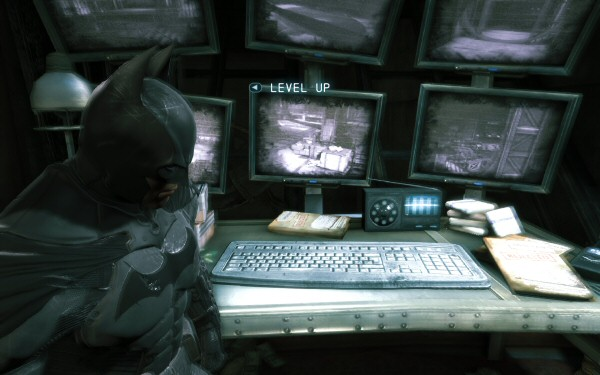 Does Batman have a keyboard the size of his arm so he can type while wearing his Bat-gloves, or is this keyboard just scaled improperly?