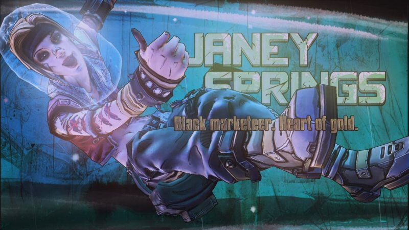Janey Springs is kinda cool but she's no Mr. Torgue, much less a Tiny Tina. Like a lot of the things in Pre-Sequel, she's serviceable yet not as good as what came before.