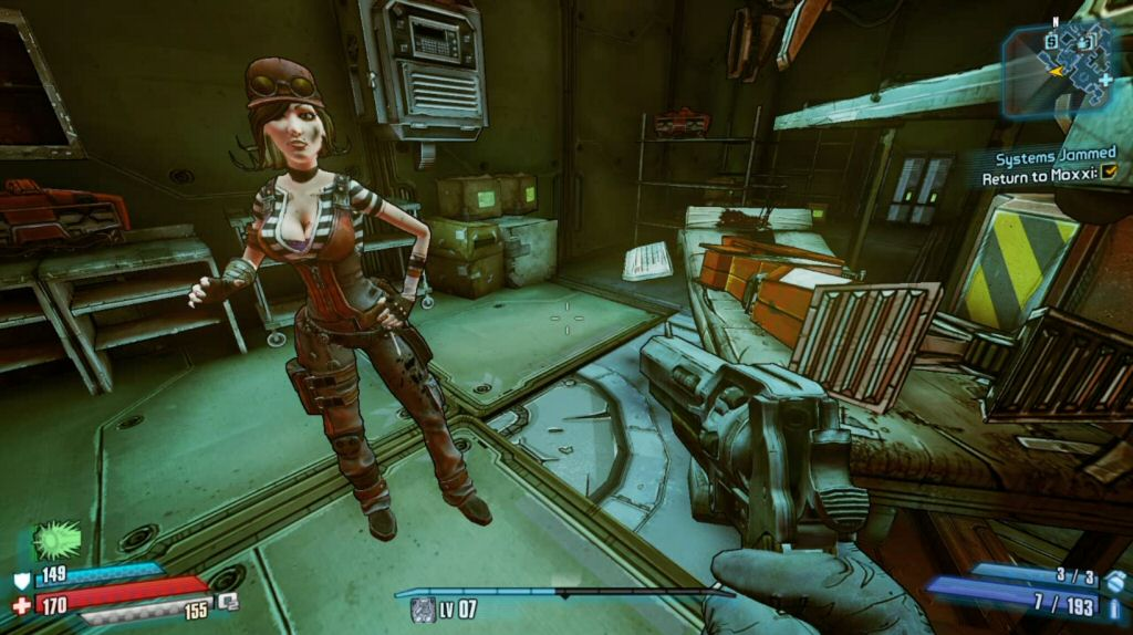 """""""I really don't like people seeing me out of character,"""" Moxxi says. Well, that makes two of us."""