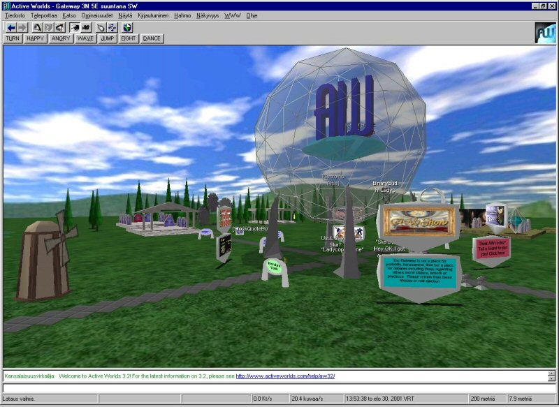 A chat MMO using Windows-style toolbars and buttons. It was ugly, it was embarrassingly dated, and it prevented us from making (say) a Mac version. Sadly, fixing it would mean moving our interface into the 3D window, and there were a lot of technological problems with doing that.