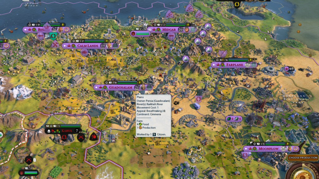 I've got just 6 cities in my half of the continent. The AI would probably cram about 15 cities into this same space.