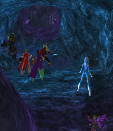 """Great, the eight of us will cram ourselves into this dark tight corridor and start a fight with the big crowd of guys in the adjacent cave-room.  The result is going to look something like the """"sparkly blobs of light"""" screensaver."""