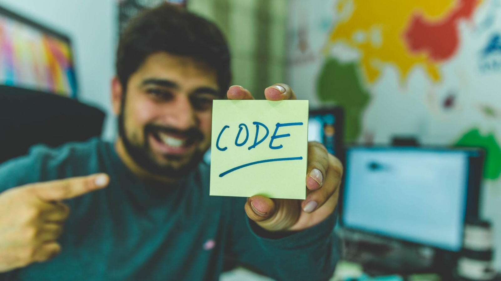 Wait, you can do this? Just write the word 'code' on a stickynote? Damn it. Turns out I've been doing things the hard way all my life.