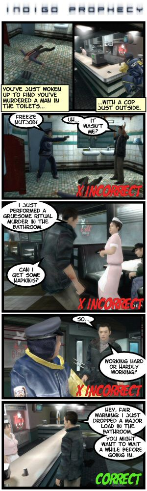 Indigo Prophecy, a guide to murder.