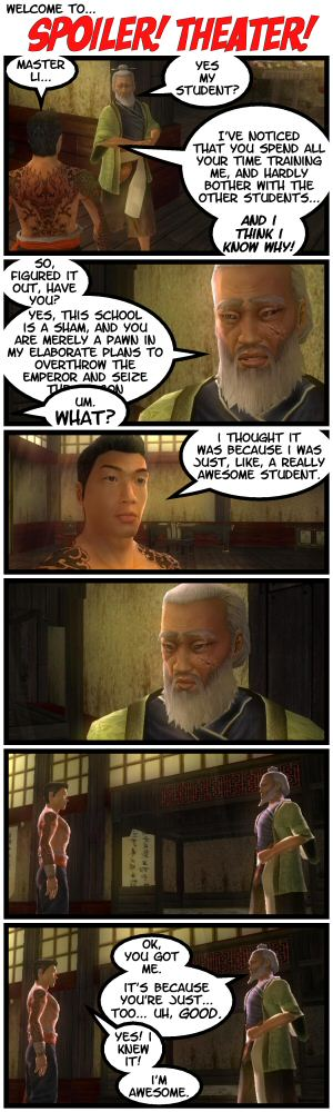 Jade Empire, The Awesome Idiot Student.