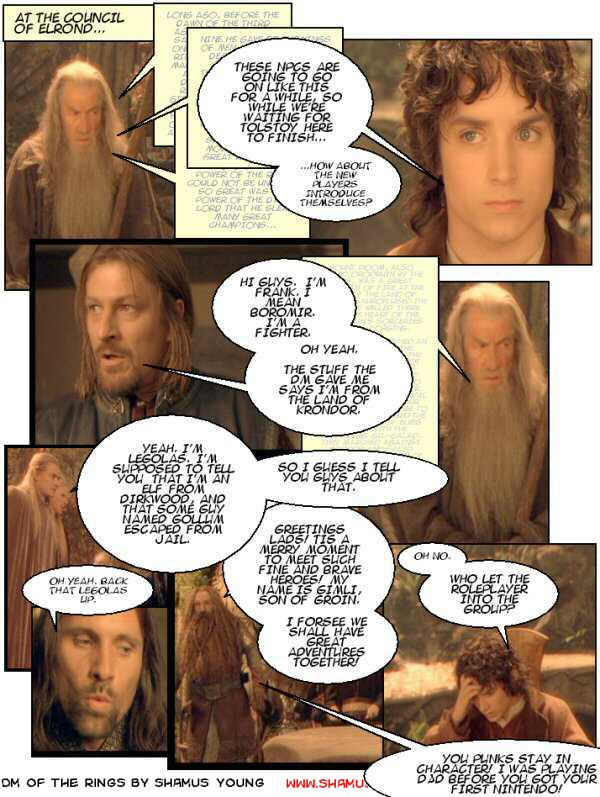 Lord of the Rings, Elrond, Rolepalyers, Legolas, Boromir