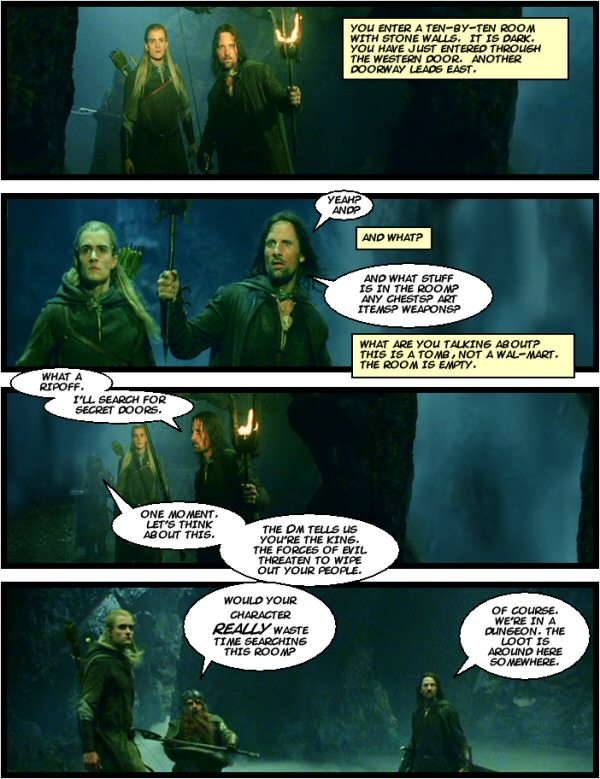 Aragorn learns to roleplay.