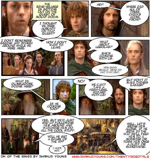 Lord of the Rings, Player Apathy, Rivendell, Meeting Girls, Powerful NPC's