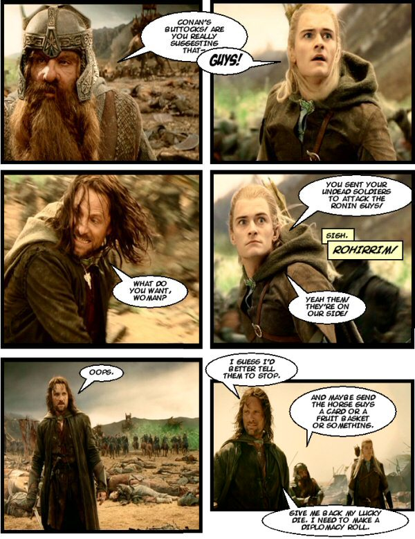 Legolas points out their mistake.