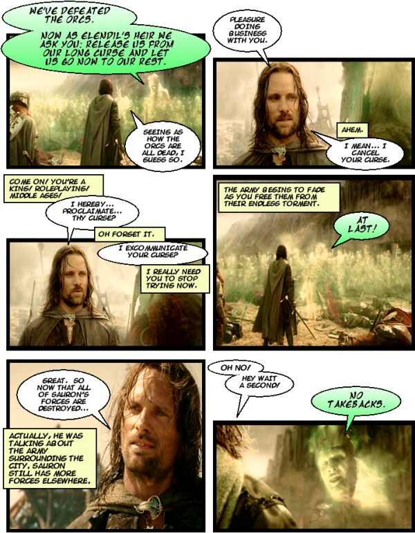 Aragorn can't roleplay for crap.