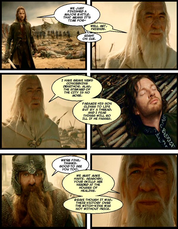Gandalf makes his tardy and overly verbose return!