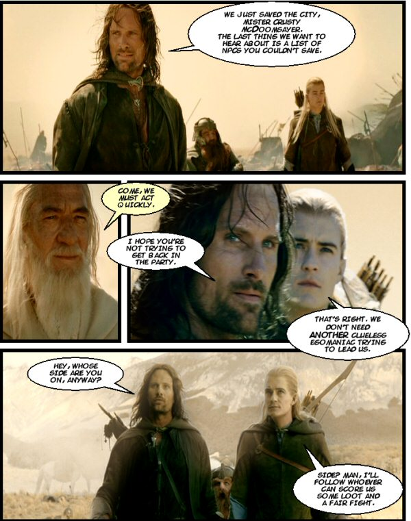 Legolas has simple goals. Which are never fulfilled.