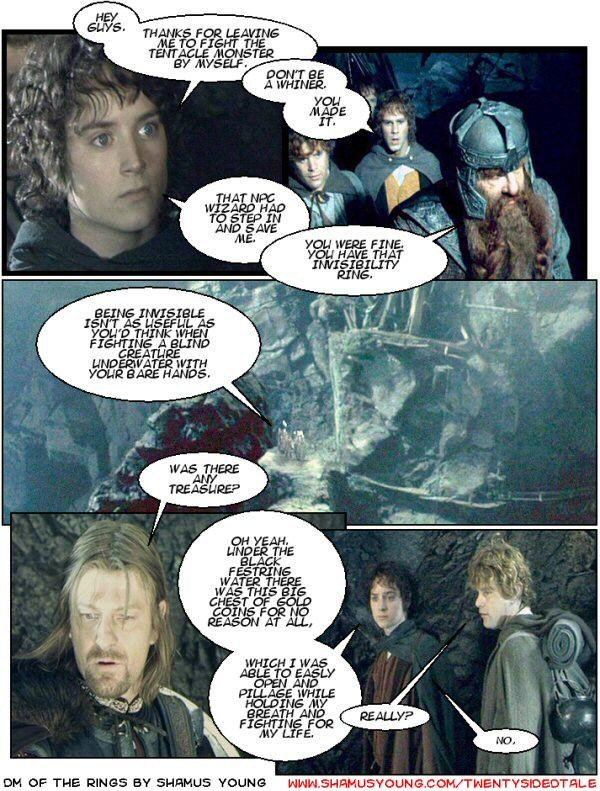 Lord of the Rings, Tentacle monster, player apathy.