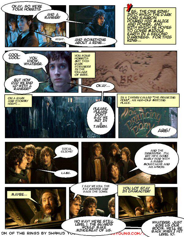 Lord of the Rings, D&D campaign – Village of Bree, Prancing Pony, Strider the Ranger