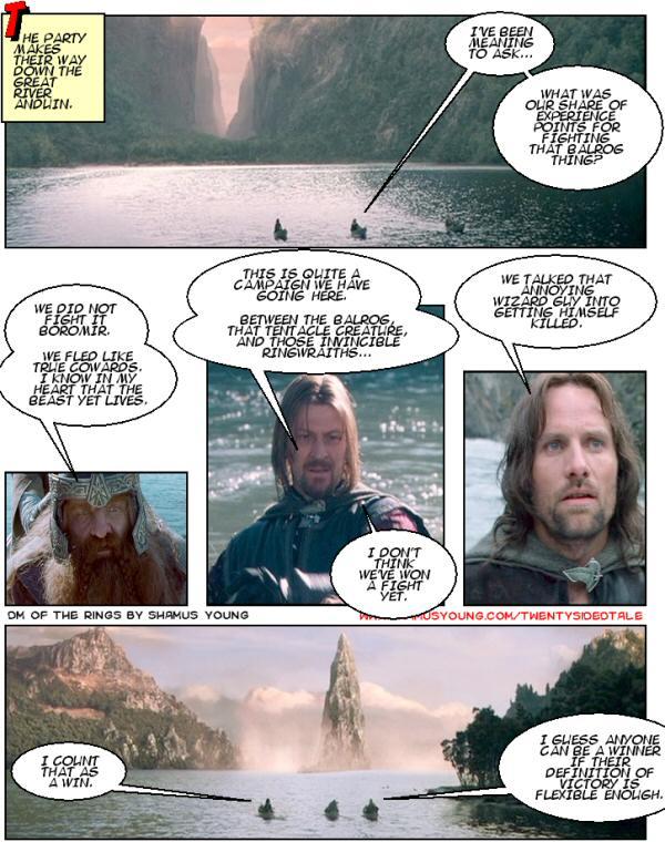 River Anduin, Boromir, Gimli, Rowboats, Victory