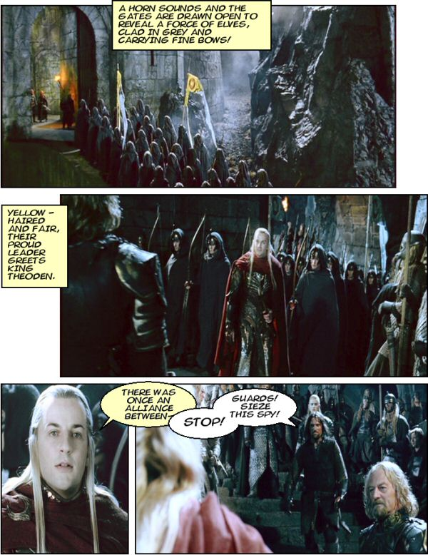 The Elves arrive at Helms Deep