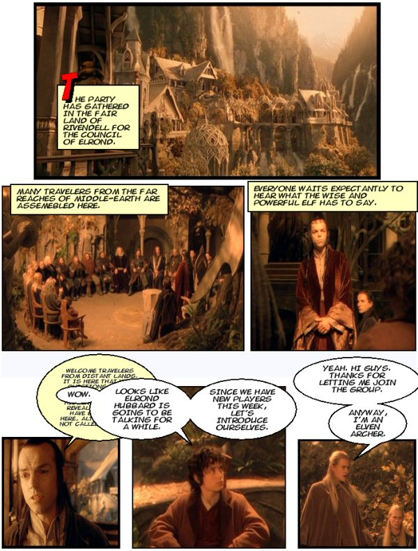 Lord of the Rings, Elrond Hubbard, Legolas, Rivendell