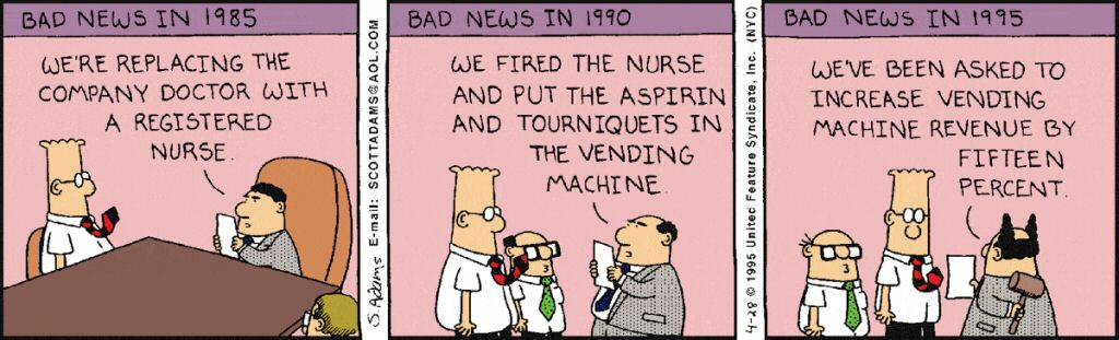 Dilbert for Friday April 28, 1995.