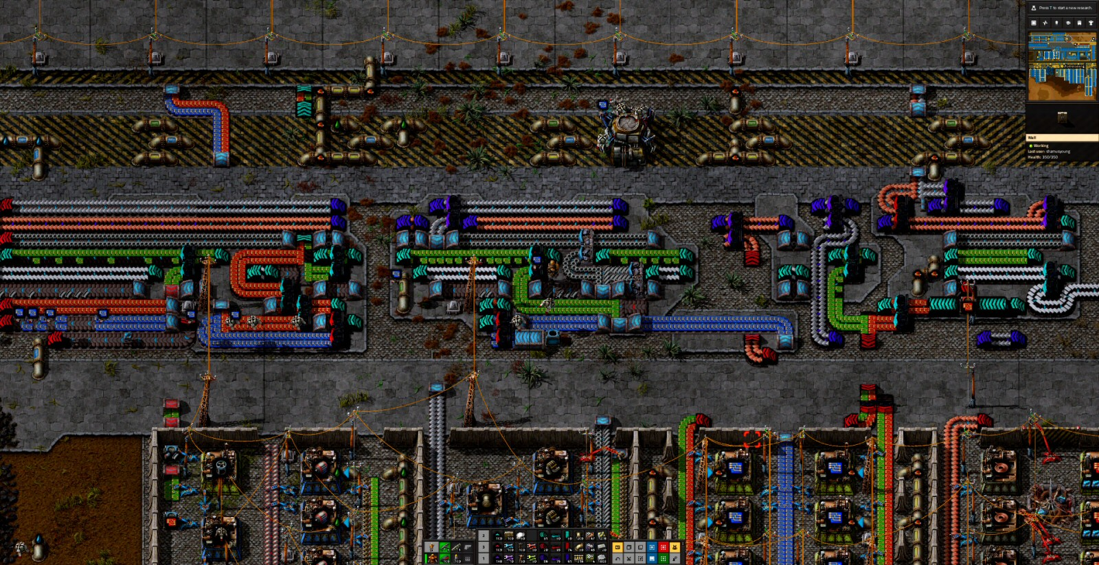 Here my conveyor bus runs right-to-left. Sometimes the positioning of resources on the map will force me to go against my preference of building horizontally, left-to-right.