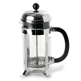 A French press, which is used in America and probably made in Taiwan. (Not pictured) The ever-present Brown Puddle.