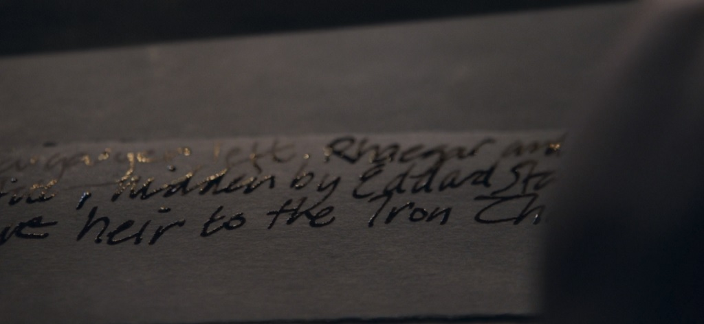 I won't lie, I'm kind of disappointed in Varys' penmanship.