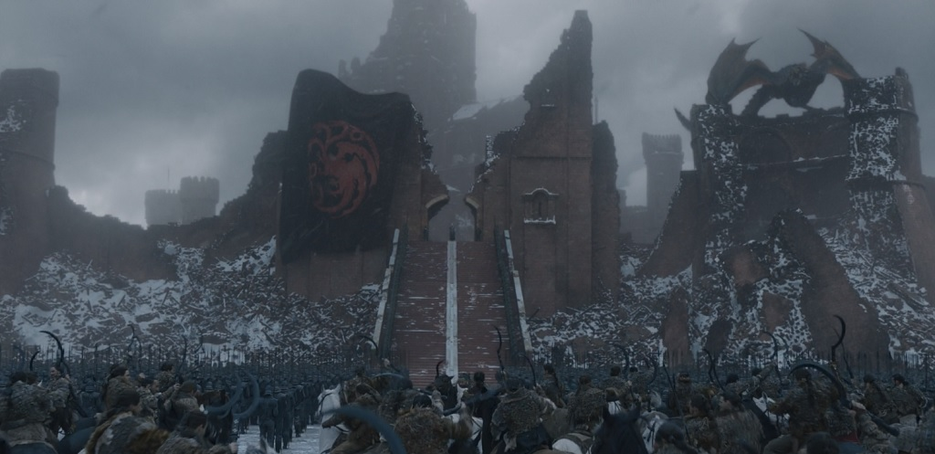 I know it's not important to the story, but I can't help but wonder where Dany got a Targaryen banner the size of a hockey rink. Did she have it this whole time?