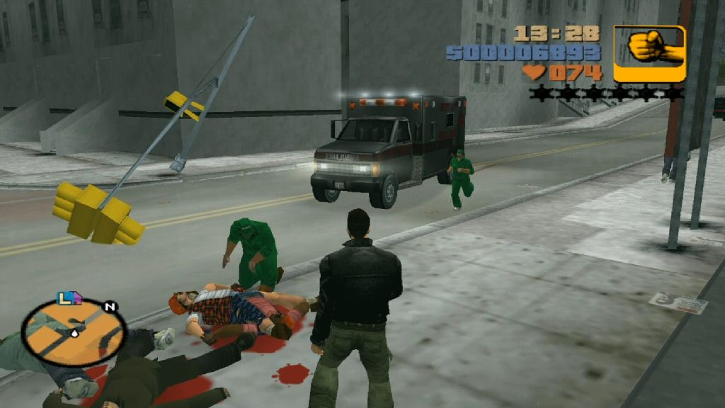 Amusing emergent behavior: I beat people up, then the paramedics show up to revive them, then they resume trying to kill me.