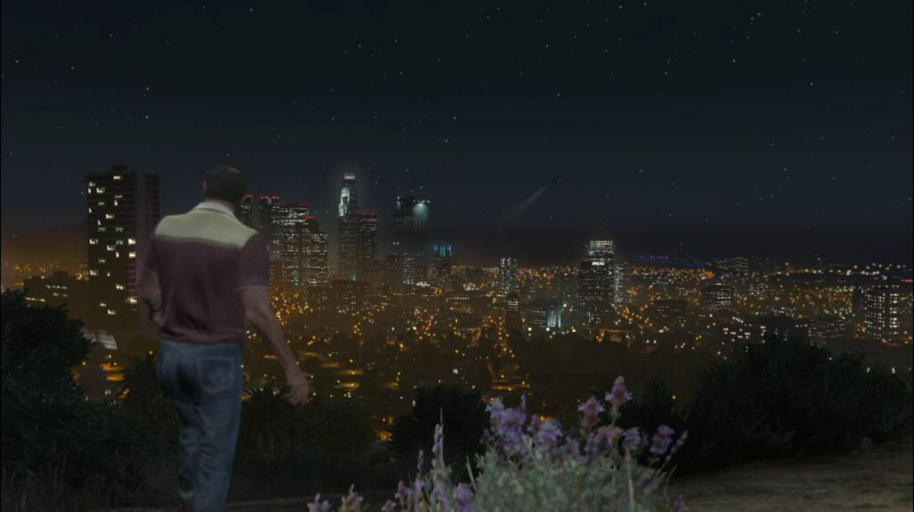 After hours of dicking around in the desert doing stuff we don't care about, Trevor FINALLY goes to Los Santos and broods over the city, giving us a monologue to explain his thinking and the threat he represents. This needed to happen WAY sooner.
