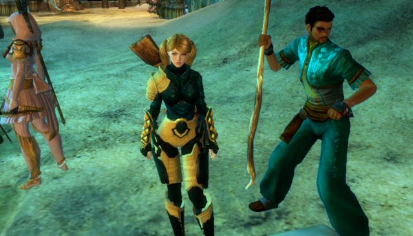 Image unrelated: That's my warrior in the middle. To the right is Josh's elementalist.