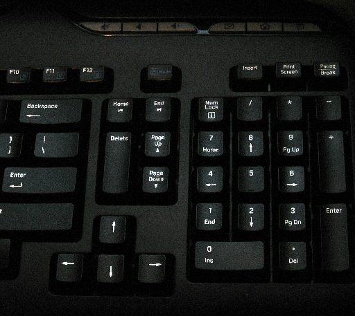 A Logitech wireless keyboard.  The name is somewhat misleading, as I'll bet it has wires <i>inside</i>.