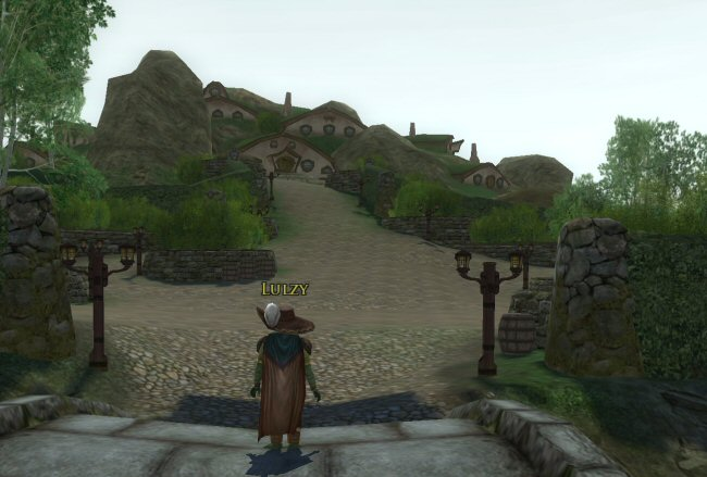 This is a pretty important location in the Shire. It's where the Tooks live. On the outside it looks like a bunch of Hobbit-homes around a hill, but the homes are actually entrances to a vast complex of inter-connected tunnels. (Well, according to the books. Here in the game, only the outer rooms are reachable.) Pippin lives here, although in this point in the story he's out with Frodo, Sam, Merry, and Strider, heading for Rivendell.