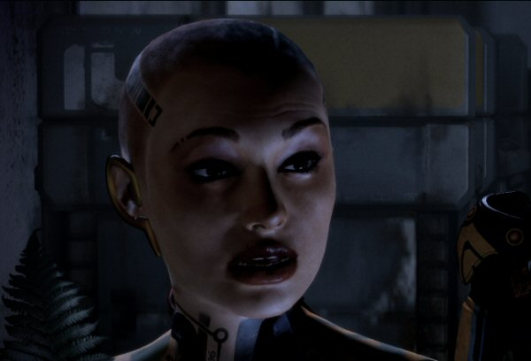 "BioWare did a brilliant job with facial animations.  Not only did they pull off ""crying face"" that doesn't plunge the character into the uncanny valley, they also pulled off ""<em>nearly</em> crying face"", which is actually way harder."