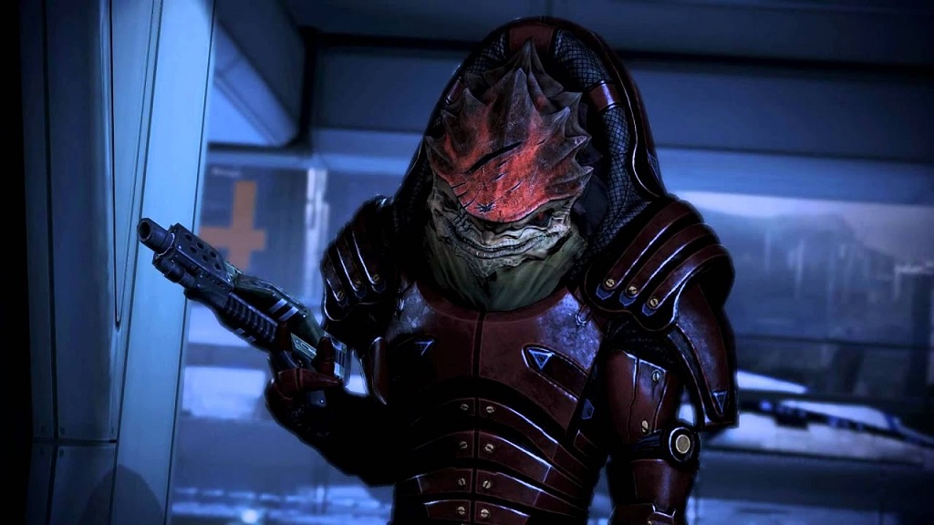 I still say Wrex would beat Grunt in a fight, and Drack too. It would be close, but he'd win.