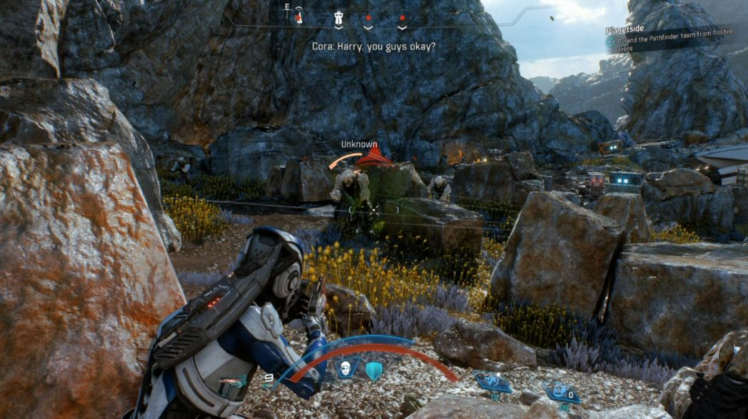 I know this looks like a good fit for the Frostbite Engine because we're trading gunfire with humanoids from behind cover, but Battlefield and Mass Effect are very different properties with different needs.