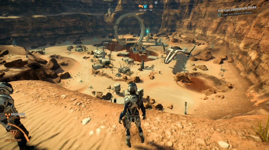 Really? We're going to build our first colony at the bottom of a box canyon? I mean, I guess one spot of lifeless wasteland is as good as another, but can't we at least pick somewhere with a view?