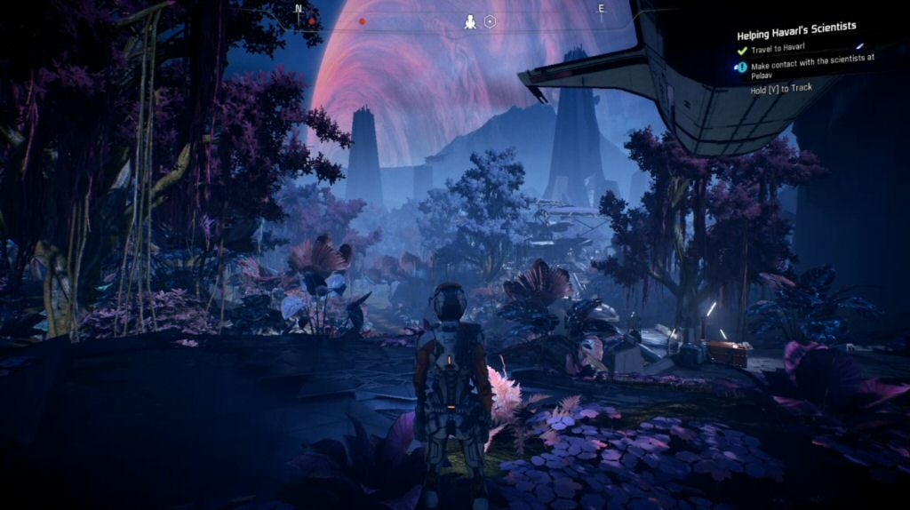 Okay, I see some purple trees. That's good. We finally have a planet that doesn't look like part of Earth. The game needed a lot more of this sort of thing, but this is a start.