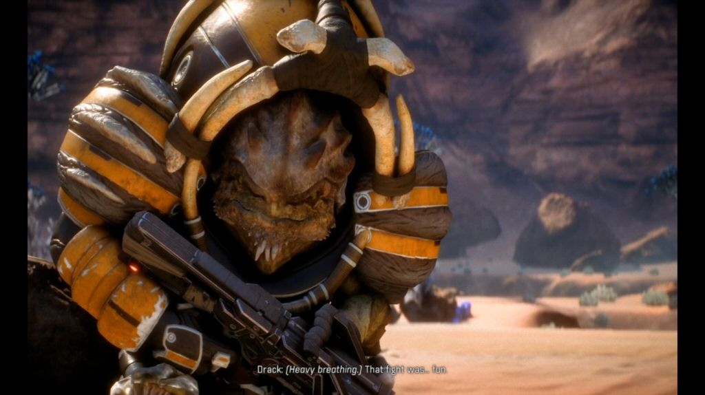 Here is Drack, who is basically Wrex 2.0.