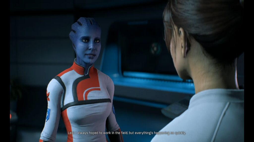 Dr. Lexi is probably the only Asari in the game that feels like an Asari. She's a fine character, although the story never does anything with her. She's not even used for exposition.