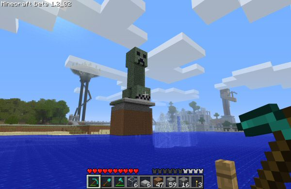 "The great Creeper statue on the <a href=""http://twentymine.com/"">Twentymine Server</a>."