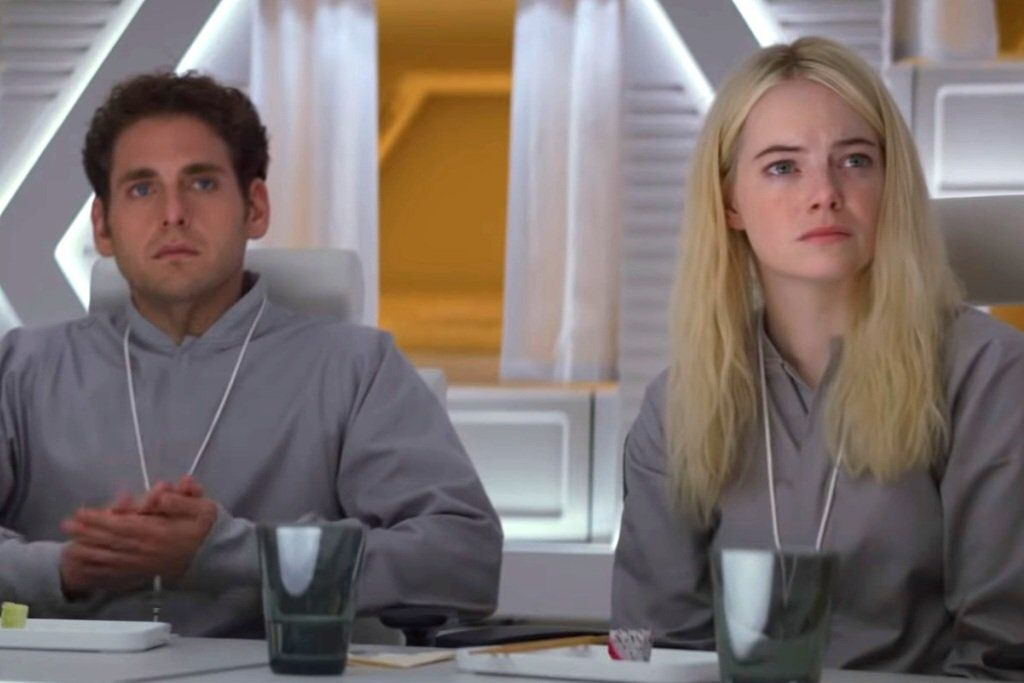 Jonah Hill and Emma Stone.