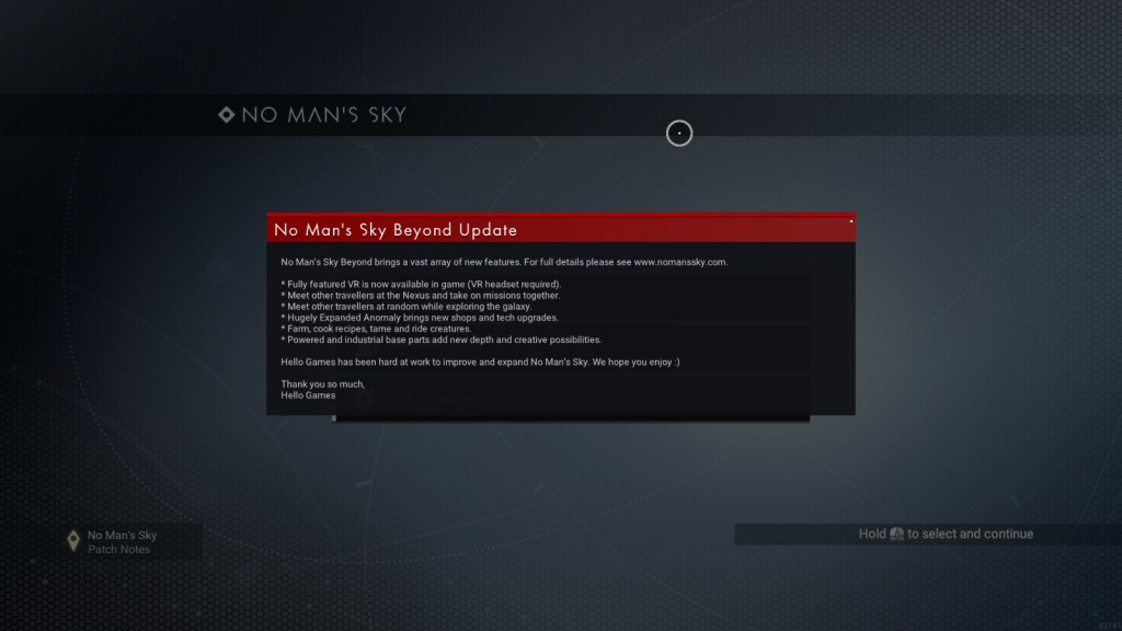 I couldn't get beyond the patch notes for the Beyond update due to bugs that were never patched in the previous updates.