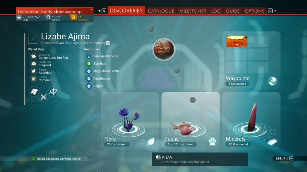I'm basically at the endgame and I've finally scanned 100% creatures on a planet for the first time. I couldn't have done it without this mod.